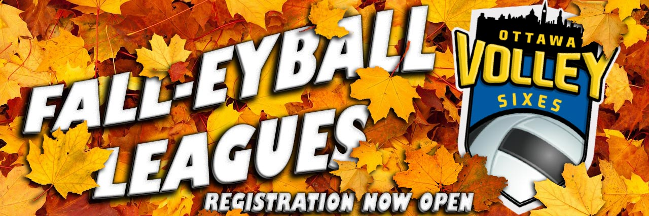 Fall Volleyball Leagues and Ball Hockey Leagues