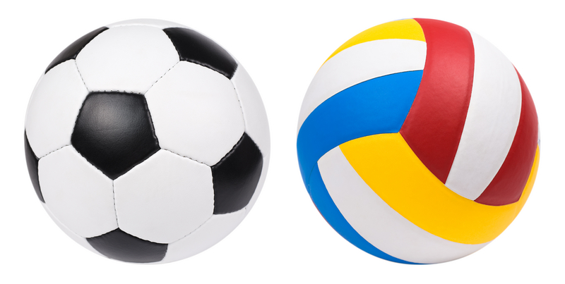 Soccer Ball and Volleyball