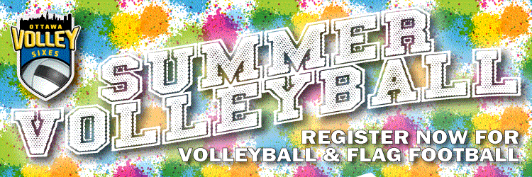 Spring and Summer Volleyball Leagues and Flag Football Leagues